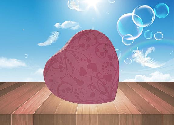 巧克力心形盒
